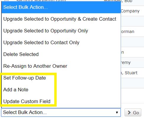 Select bulk actions
