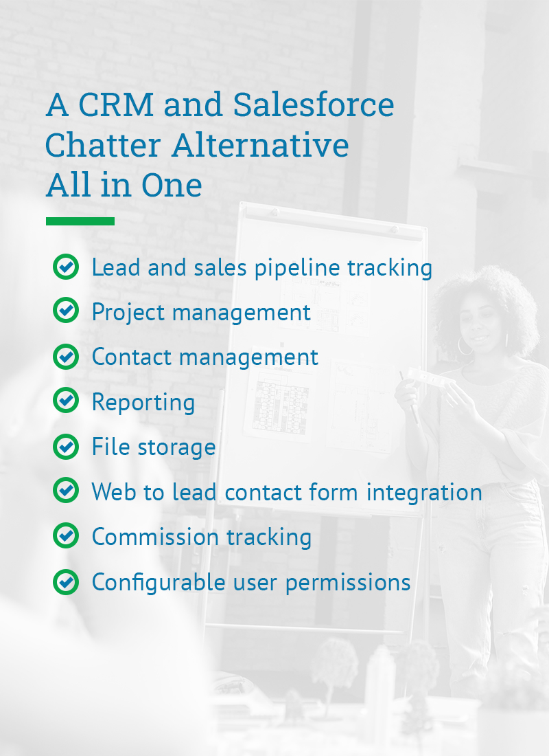 A CRM and Salesforce Chatter Alternative All in One