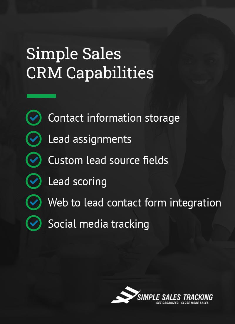 Simple Sales CRM Capabilities